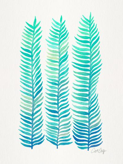Turquoise Stems-Cat Coquillette-Giclee Print
