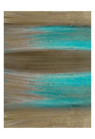 Turquoise Stream 1-Kimberly Allen-Art Print
