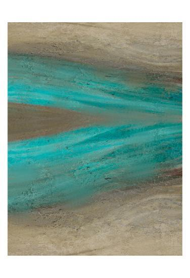 Turquoise Stream 2-Kimberly Allen-Art Print