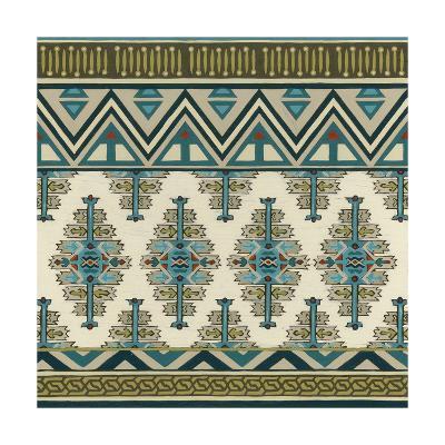 Turquoise Textile II-Erica J^ Vess-Art Print