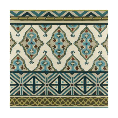 Turquoise Textile III-Erica J^ Vess-Art Print
