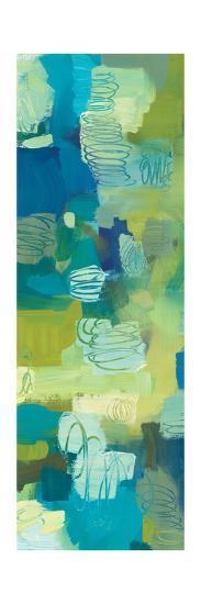 Turquoise Twist Panel I-Jeni Lee-Art Print