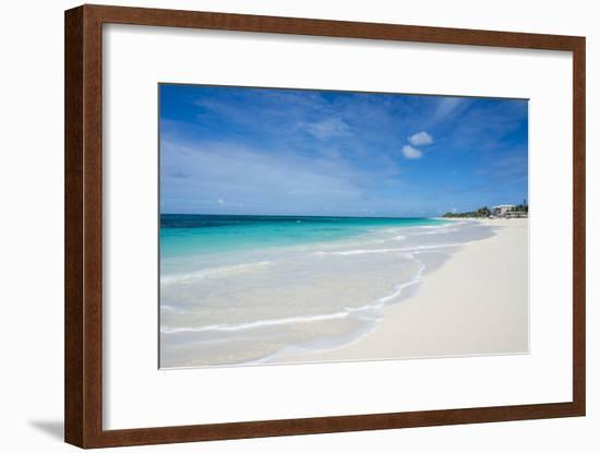 Turquoise waters and whites sand on the world class Shoal Bay East beach, Anguilla, British Oversea-Michael Runkel-Framed Photographic Print