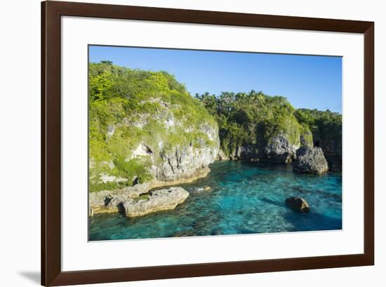 Turquoise waters in the Limu low tide pools, Niue, South Pacific, Pacific-Michael Runkel-Framed Photographic Print