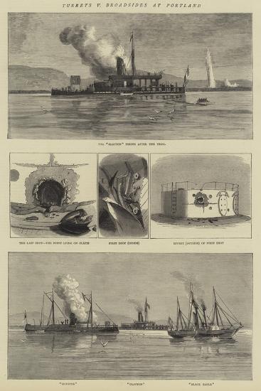 Turrets V Broadsides at Portland--Giclee Print