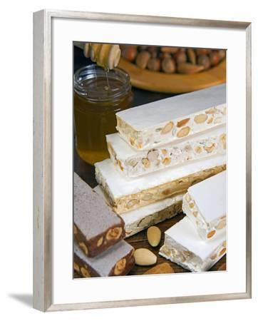 Turron (Spain), Torrone (Italy) or Nougat (Morocco), Confection of Honey, Sugar, Egg White and Nuts-Nico Tondini-Framed Photographic Print