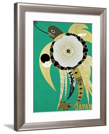 Turtle Ornament / Japan-KAZUMASA NAGAI-Framed Giclee Print