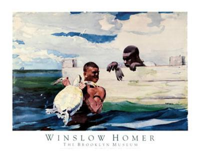 Turtle Pound-Winslow Homer-Art Print