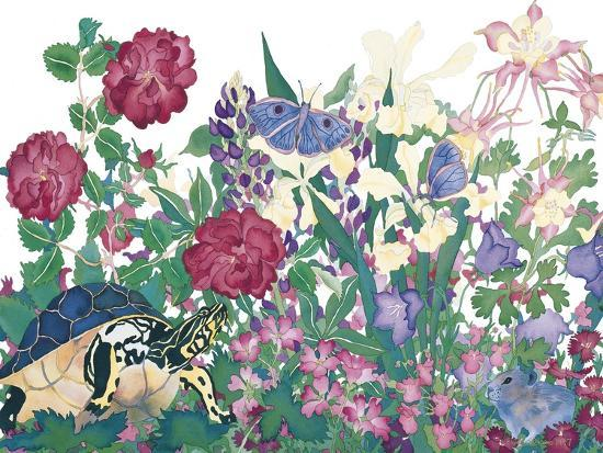 Turtle With Butterfly-Carissa Luminess-Giclee Print