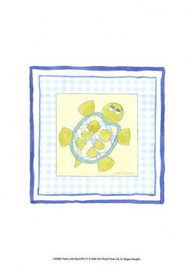 Turtle with Plaid IV-Megan Meagher-Art Print