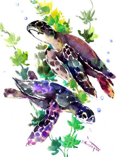 Turtle-Suren Nersisyan-Art Print