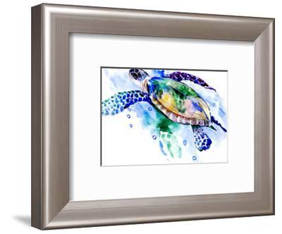 Turtle-Suren Nersisyan-Framed Art Print