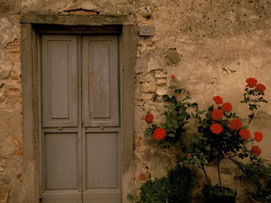 Tuscan Doorway, Castellina, Il Chianti, Tuscany, Italy-Walter Bibikow-Photographic Print