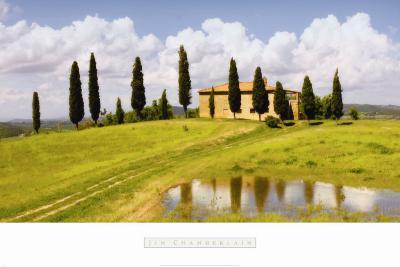 Tuscan Hillside no. 5-Jim Chamberlain-Art Print