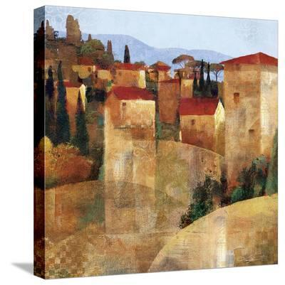 Tuscan Hillside-Keith Mallett-Stretched Canvas Print