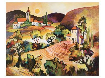 Tuscan Landscape 1-Warren Cullar-Art Print