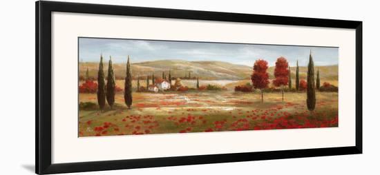 Tuscan Poppies II-Nan-Framed Art Print