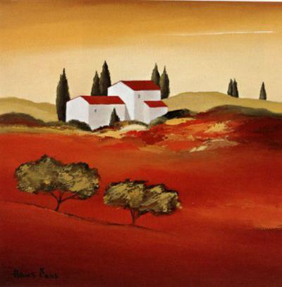 Tuscan Red IV-Hans Paus-Art Print