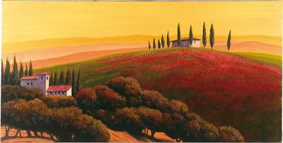 Tuscan Skyline II-Cimino-Art Print