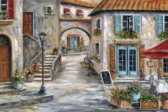 Tuscan St Scene-Marilyn Dunlap-Art Print