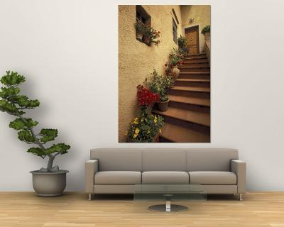 Tuscan Staircase, Italy-Walter Bibikow-Wall Mural