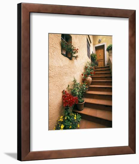 Tuscan Staircase, Italy-Walter Bibikow-Framed Photographic Print