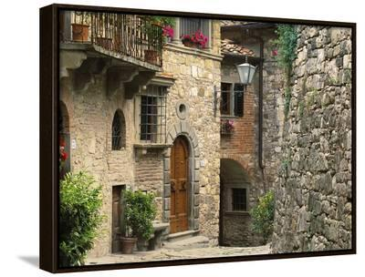 Tuscan Stone Houses-William Manning-Framed Canvas Print