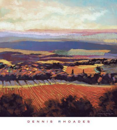 Tuscan Sunrise-Dennis Rhoades-Art Print