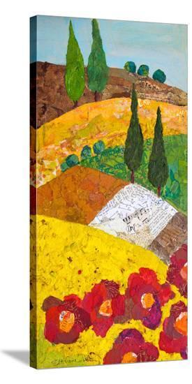 Tuscan Triptych A--Stretched Canvas Print
