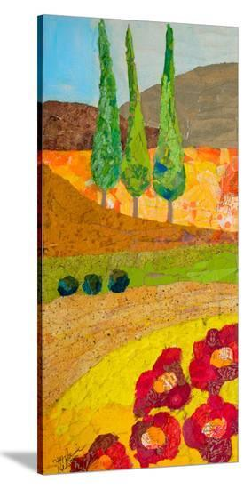 Tuscan Triptych B--Stretched Canvas Print