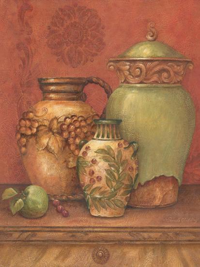 Tuscan Urns II-Pamela Gladding-Art Print