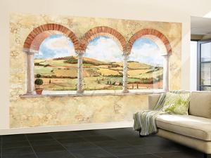 Tuscan View Small Huge Mural Art Print Poster