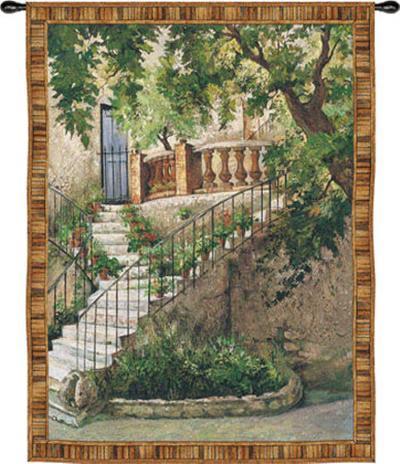 Tuscan Villa I-Roger Duvall-Wall Tapestry