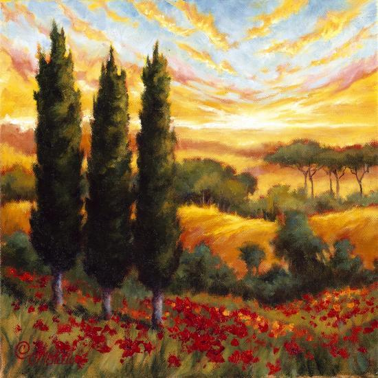 Tuscany in Bloom IV--Premium Giclee Print