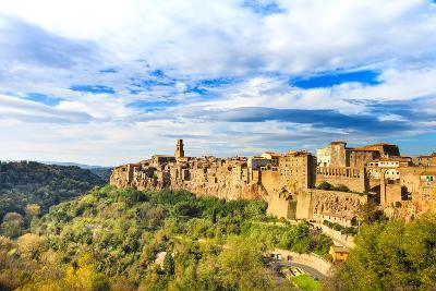 Tuscany, Pitigliano Medieval Village Panorama. Italy-stevanzz-Photographic Print