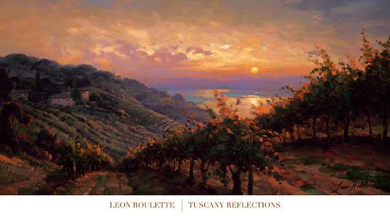 Tuscany Reflections-Leon Roulette-Art Print