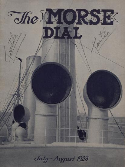 Tusitala, Front Cover of the 'Morse Dry Dock Dial', July-August 1923--Giclee Print