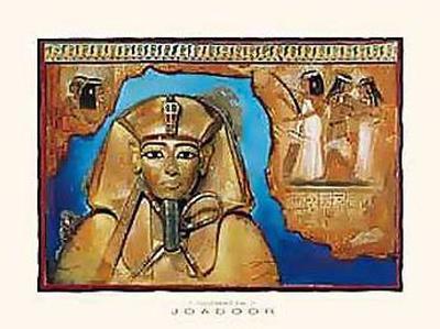Tutanchamon In Blue-Joadoor-Art Print