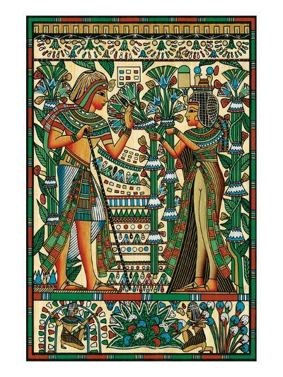 Tutankhamun and Ankhesenamun--Art Print