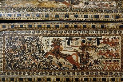 Tutankhamun in Battle, Detail from Painted Casket from Tomb of Tutankhamun--Giclee Print