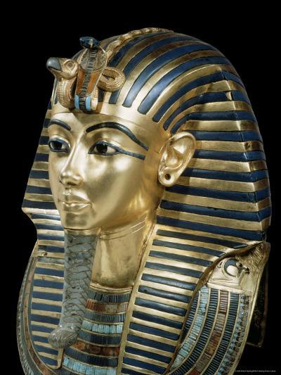 Tutankhamun's Funeral Mask in Solid Gold Inlaid with Semi-Precious Stones, Thebes, Egypt-Robert Harding-Photographic Print