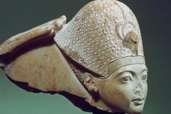 Tutankhamun Wearing the Blue Crown, 14th Century Bc--Photographic Print