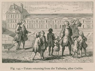 Tutors Returning from the Tuileries, after Cochin--Giclee Print