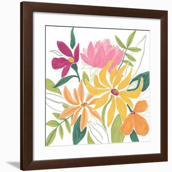 Tutti Frutti Floral I-June Vess-Framed Art Print
