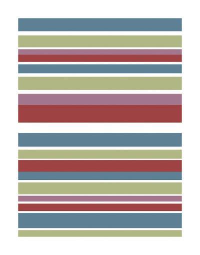 Tutti-frutti Stripes-Denise Duplock-Art Print