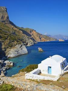 Beach and Church, Agia Anna, Amorgos, Cyclades, Aegean, Greek Islands, Greece, Europe by Tuul