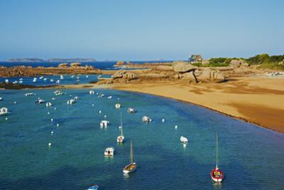 Beach of Tregastel, Cote De Granit Rose, Cotes D'Armor, Brittany, France, Europe by Tuul