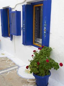 Blue Shutters, Plaka, Old Village, Milos, Cyclades Islands, Greek Islands, Greece, Europe by Tuul
