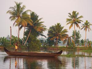 Boat on the Backwaters, Allepey, Kerala, India, Asia by Tuul