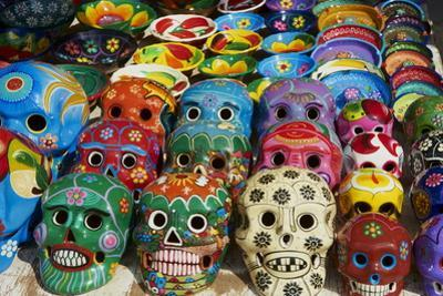 Handicrafts, Masks for Sale, Cancun, Quintana Roo, Mexico, North America by Tuul